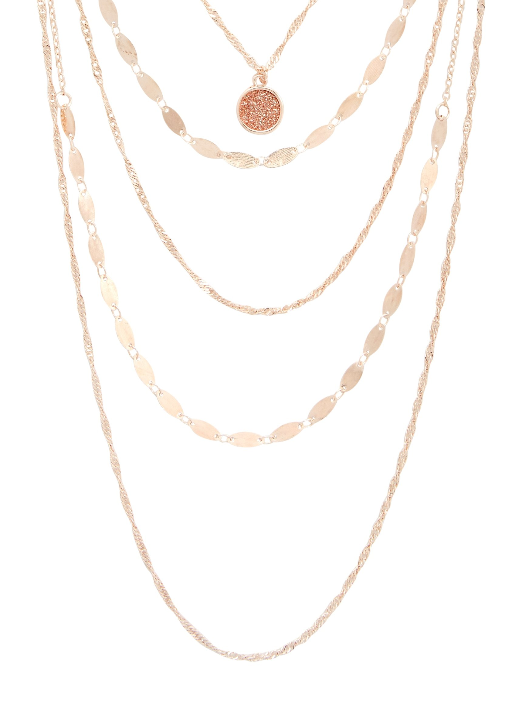 Maurices Women's Rose Gold Drape Necklace Misc Rose Gold
