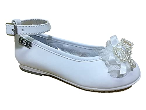 Laura Biagiotti Scarpe Bambina Ballerine Eleganti Bianco Cinturino 3407 (28  EU) ca790099d2d