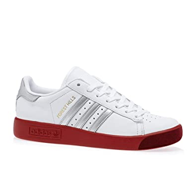 more photos cac0c 356a1 adidas Originals Forest Hills Shoes 11.5 D(M) US FTWR White Silver Met  Scarlet
