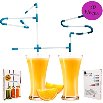 DIY Drinking Straws Novelty Fun Crazy Party Drinking Game 20 Parts Gift Kids