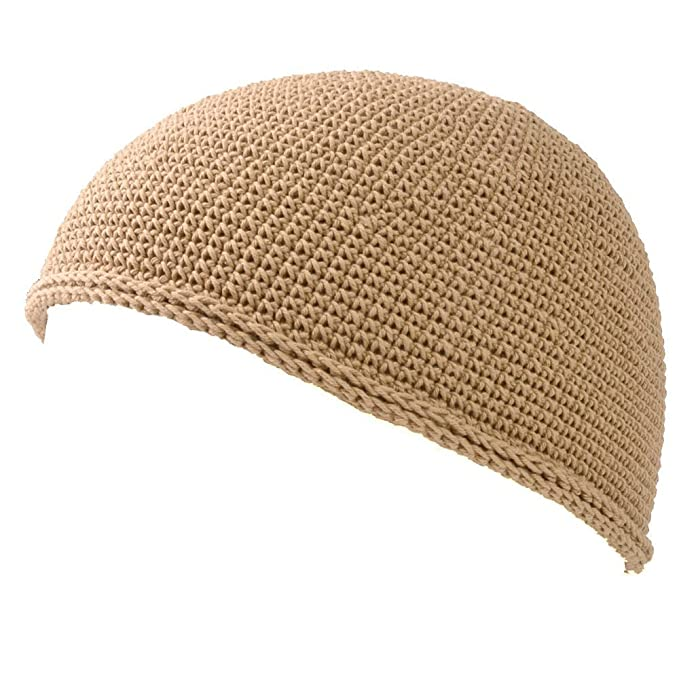 f6ffbc70ef55a6 Casualbox mens Skull Cap Islam Beanie Hat HAND Made Tight Fashion Beige