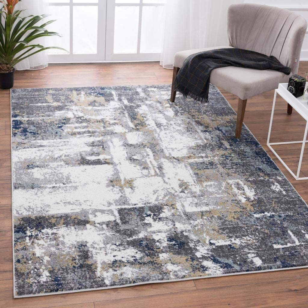 LUXURY 16mm THICK Dense Hardwearing Black Silver Grey 4m Wide Saxony Carpet