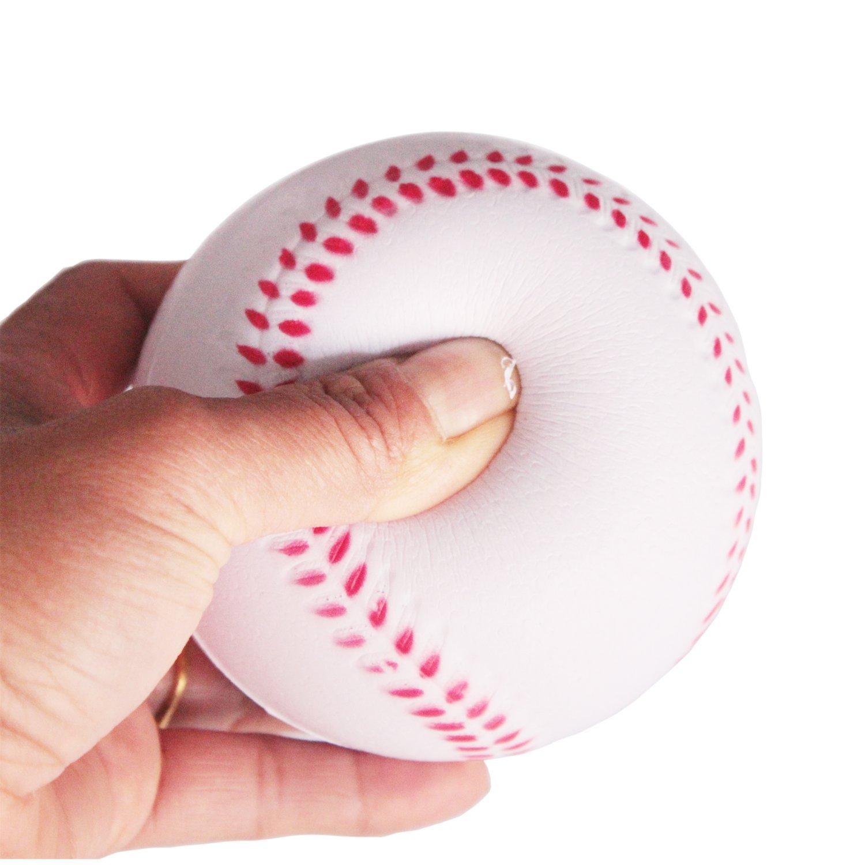 B1ST Practice Baseballs Softballs Rubber White 11 inch Pack of 6