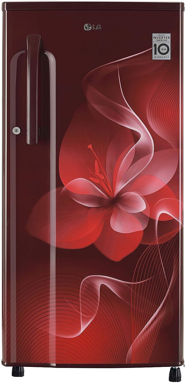 LG 188 L 3 Star Inverter Direct-Cool Single Door Refrigerator (GL-B191KSDX, Scarlet Dazzle)