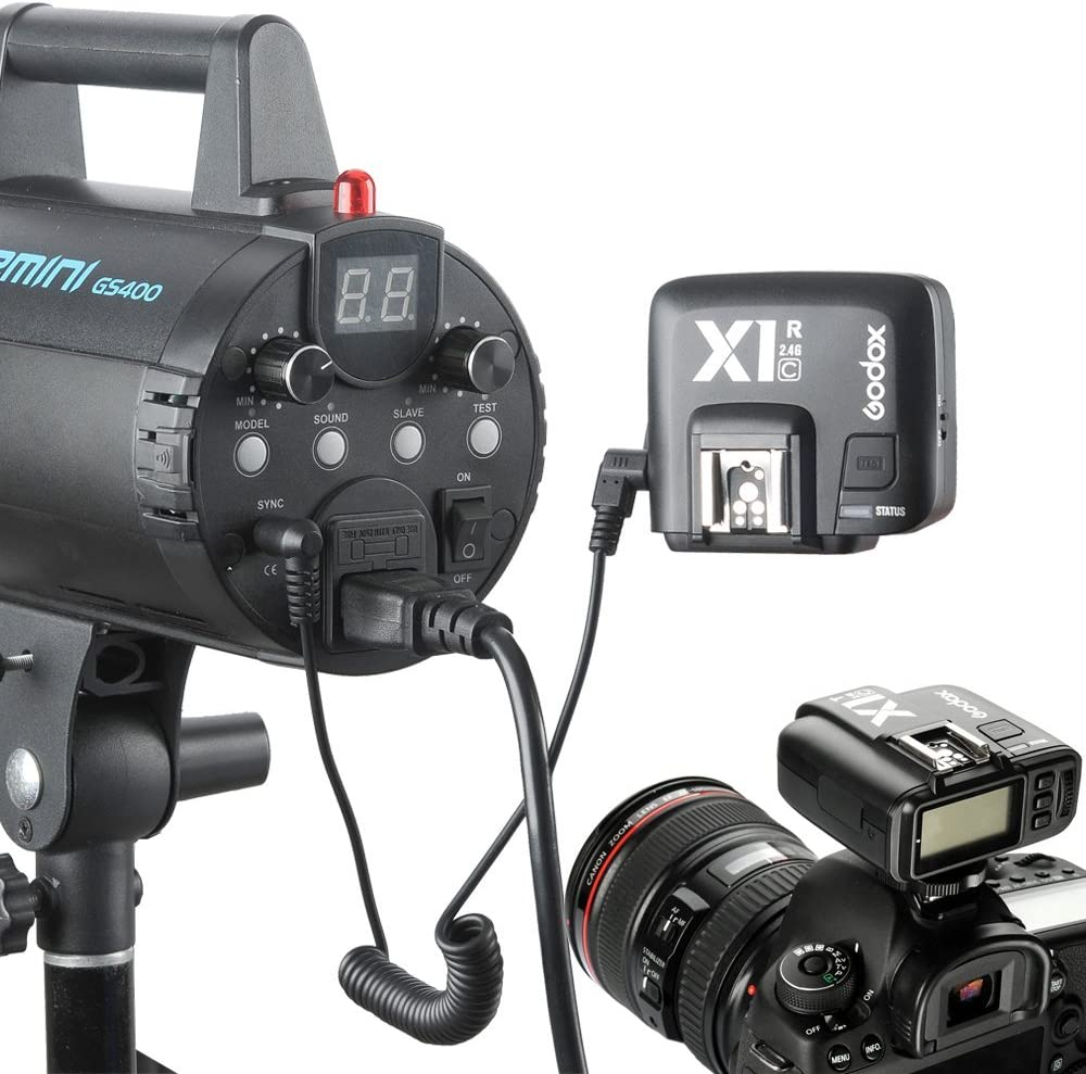2.4G TTL Wireless Trigger with X1R-C Controller Receiver for Canon EOS SLR Digital Cameras,E-TTL II Function,32CH,HSS 1//8000s X1T-C Transmitter + X1R-C Receiver Godox X1C X1T-C+2X X1R-C