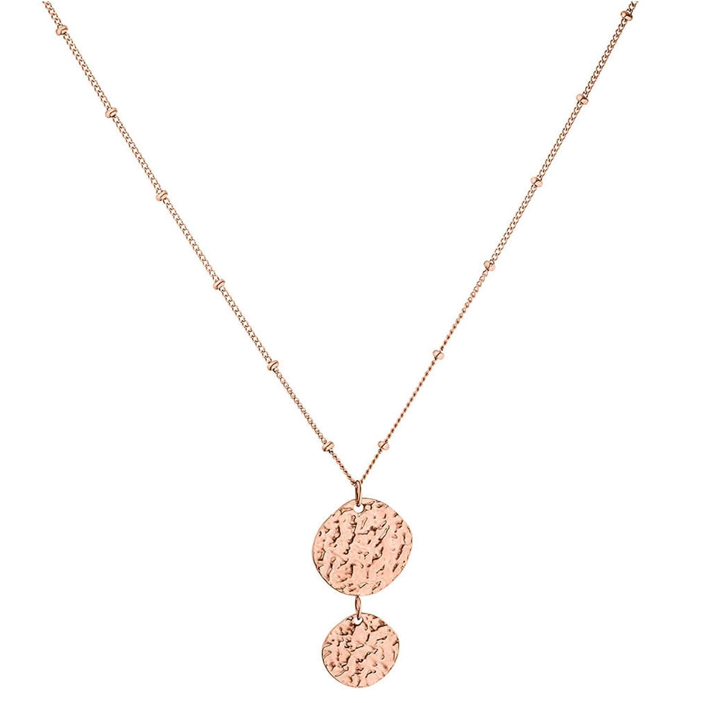 Gold, Silber /& Rosegold 40 cm L/änge Mit Anh/änger PURELEI /® Malihini Coin Halskette