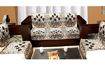 Braids Premium Home Jacquard Weaved 5 Seater Sofa and Chair Cover Set -(6 Piece Set)