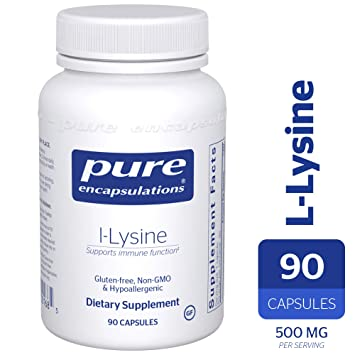 Pure Encapsulations - l-Lysine - Hypoallergenic Supplement Helps Maintain  Healthy Arginine Levels