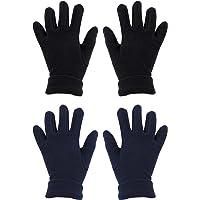 Cooraby 2 pares de guantes de invierno para niños o niñas