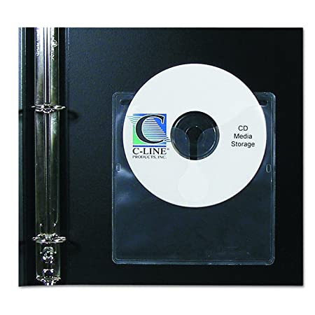 Amazon.com : C-Line Self-Adhesive CD Holder, 5.33 X 5.66 Inches ...