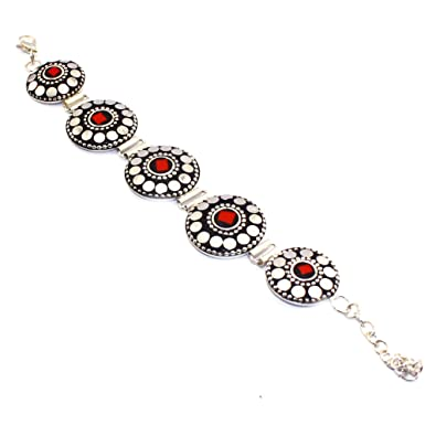 Amazon Com 925 Sterling Silver Overlay Nepali Coral Turquoise