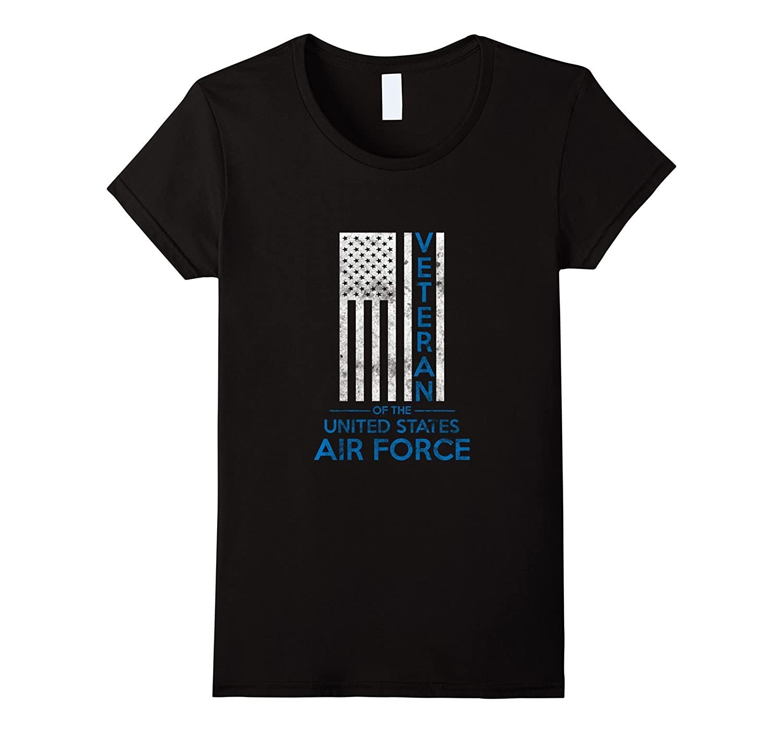 US American Flag T-shirt U.S. Air Force Veterans Blue Line