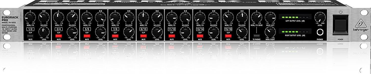 Behringer RX1602 Professional Multi-Purpose 16-Input Ultra-Low Noise Line Mixer