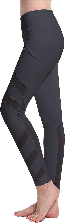 Lotsyle Womens Mesh Panels Yoga Leggings Workout Fitness Yoga Pants