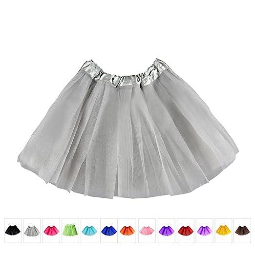 db5e6ab4b3 Amazon.com : The Elixir Kids Girls 2-8 Years Dance Ballet Tutu Skirt Dress,  Grey, Small : Clothing