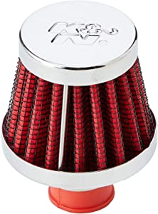 K&N Vent Air Filter/ Breather: High Performance, Premium, Washable, Replacement Engine Filter: Flange Diameter: 0.375 In, Filter Height: 1.75 In, Flange Length: 0.5 In, Shape: Breather, 62-1600RD