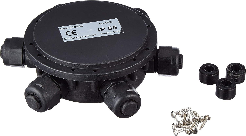 IP55 6/compartiments SLV Bo/îte de d/érivation ronde 14/mm C/âble de diam/ètre 229260