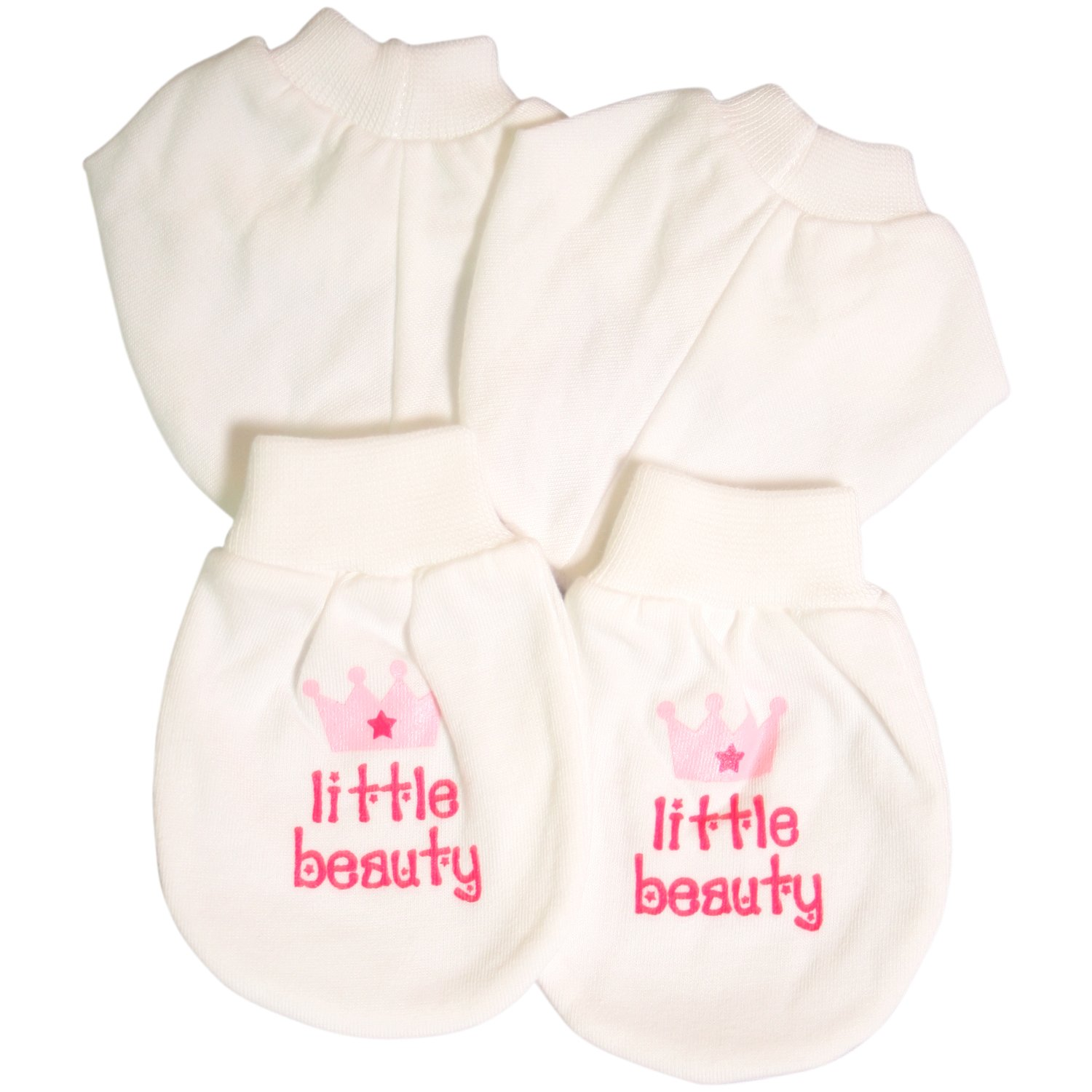 fa30fae87f49 Tolly Joy Little Beauty Mitten and Bootee Set (White Red)  Amazon.in ...