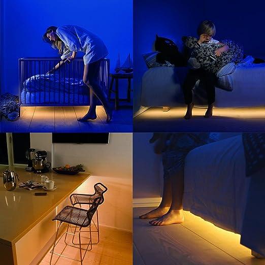 Bewegung Aktiviert Bett Licht,IUQY Flexible LED Streifenlicht Auto ...