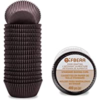 Gifbera Brown Standard Cupcake Liners Swedish Paper Coffee Baking Cups 400-Count, Coffee Color