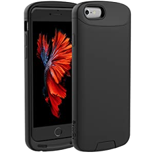 iOttie iON Wireless Qi Charging Receiver Case Charger Cover for iPhone 6s/6- Apple MFI Certified- Black