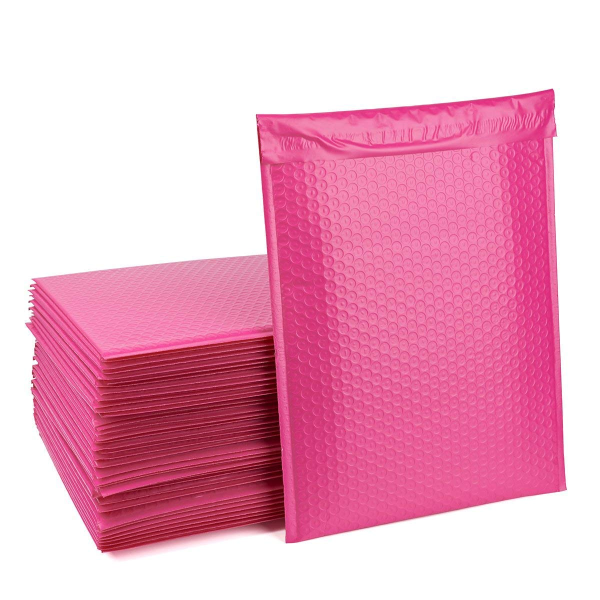 FU GLOBAL #5 Pink Bubble Mailers 10.5x16 Inch Padded Envelopes Pack of 25
