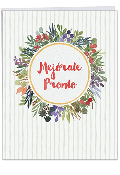 Amazoncom Mejorate Pronto Spanish Get Well Soon Greeting Card
