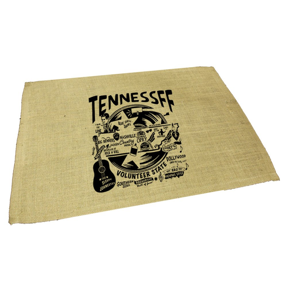Amazon.com: Style in Print Tennessee Jute Burlap Placemat Table Mat ...