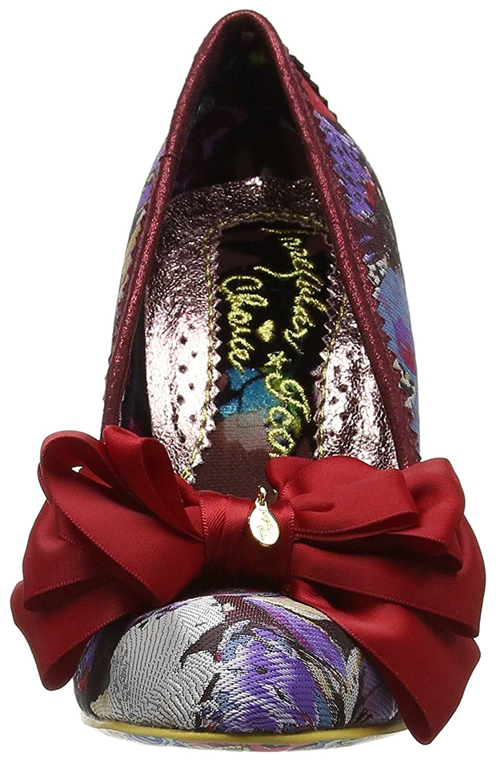 Irregular Choice Ascot Rot Multi Fersen Damen Fersen Multi Court Schuhe - 53d0ef