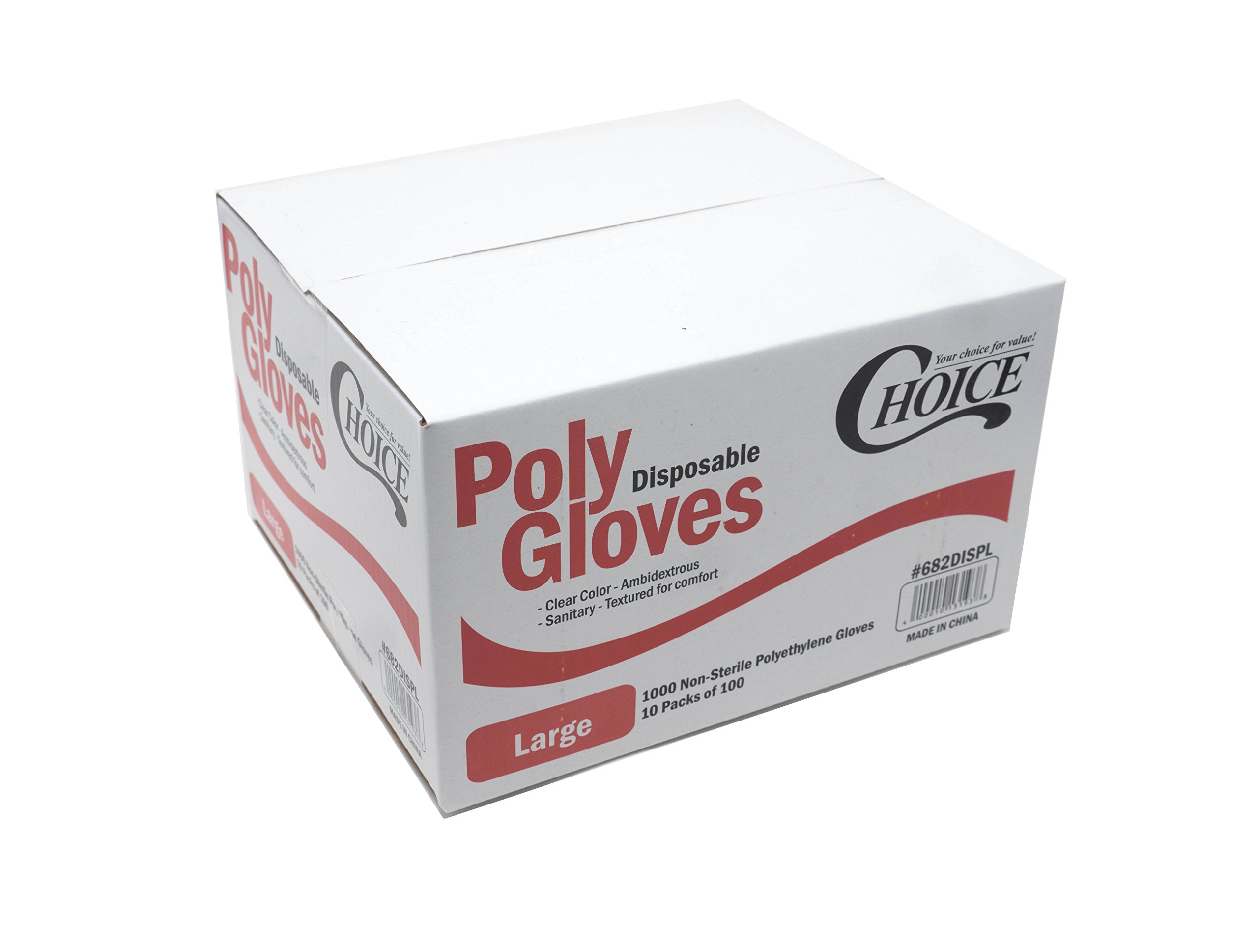Choice Poly Disposable PE Gloves - Large - Pack of 1000