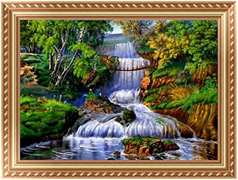A 5D Diamond Painting Full Drill,Lavany House Views 5D DIY Diamond Painting By Number Kits Embroidery Rhinestone Pasted Home Decor,Cross Stitch Stamped Kits