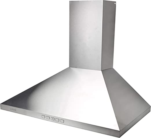 Zuhne Ventus 30 inch Kitchen Wall Mount Ducted/Ductless Stainless Steel  Range Hood or Stove Vent with Energy Saving Touch Control & LED Lights