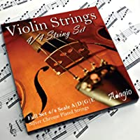 Adagio Pro - Violin Strings - 4/4 Classic Silver Violin String Set/Pack With Ball Ends For Concert Tuning