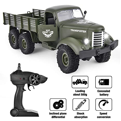 Rc Car And Truck Radio Control Remote Control Rc Planet >> Rainbrace Rc Military Truck Radio Control 1 16 All Terrain Remote Control Military Truck 2 4ghz 6wd Rtr Controller Electric Rc Off Road Trucks