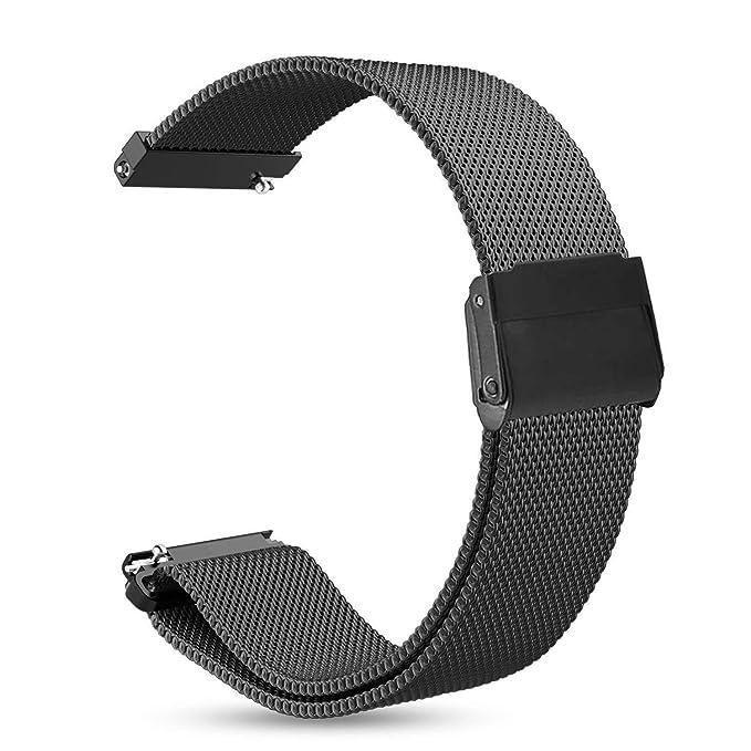 Sundaree Correa clásico Sundaree Samsung Gear S2, la correa del metal magnético reemplazo Milanese SmartWatch banda para Samsung Gear S2 Classic ...
