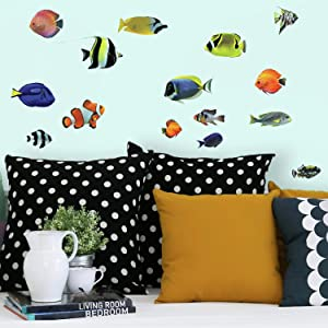 RoomMates Tropical Fish Peel And Stick Wall Decals
