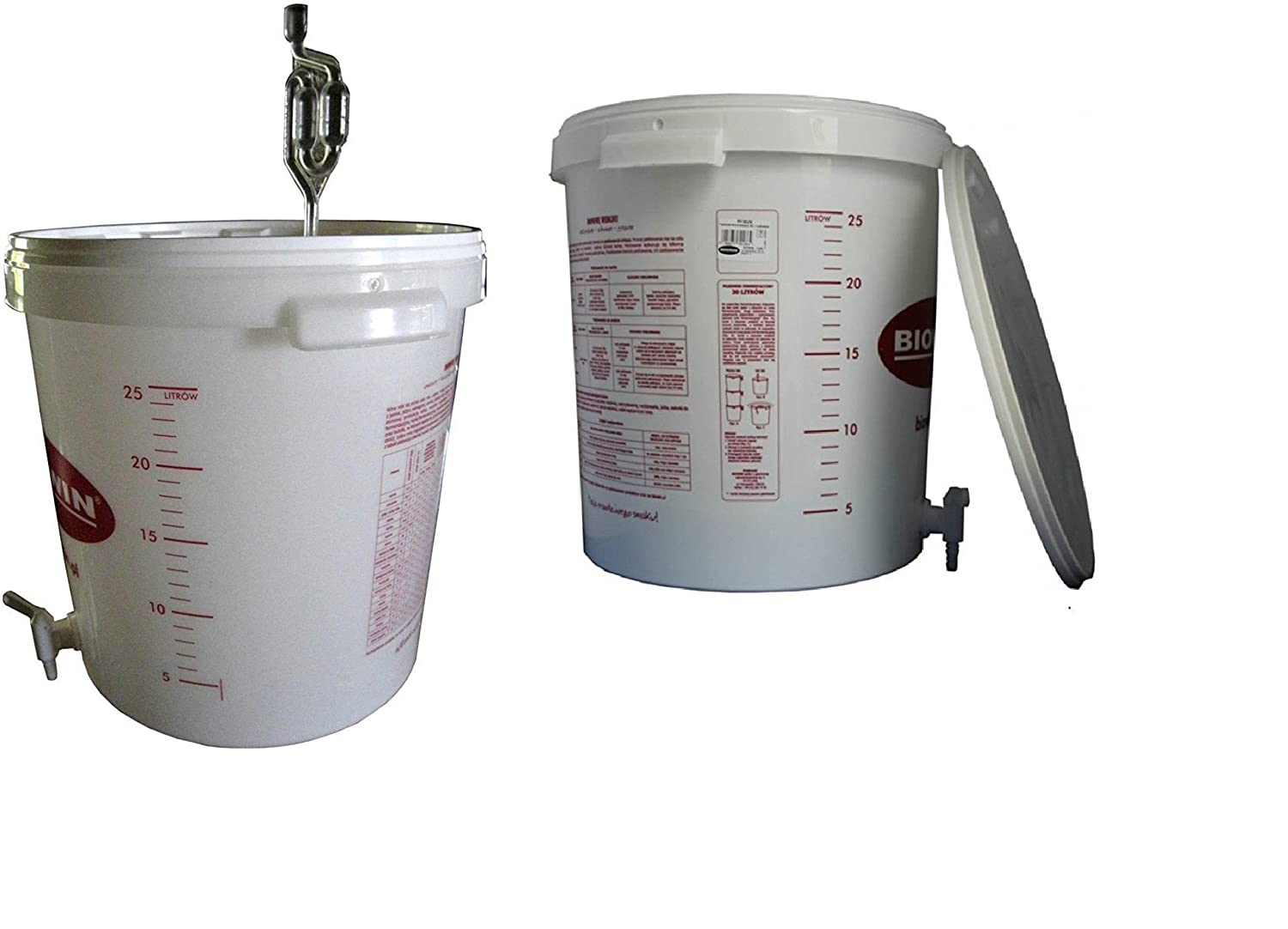 30 Litre Fermenting Switch Fermentation Bucket for Beer or Wine with Drain Tap and Single Airlock Bubbler FREE SAME DAY POSTAGE bro-win