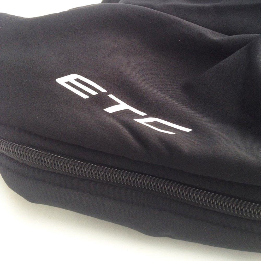 ETC Menss Leg Warmers Full Zip Warm Up Black Legwarmers