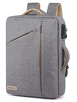 Maletín antirrobo para portátil de 15,6 pulgadas, resistente al agua, convertible, multifuncional, 3 en 1, mochila para ordenador portátil: Amazon.es: ...