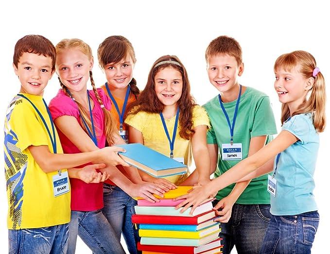 Schule und Kinder(Schwarz) GIMARS 50Set Namensschilder mit Band Kartenh/ülle Ausweishalter Lanyard f/ür Business B/üro Ausstellung