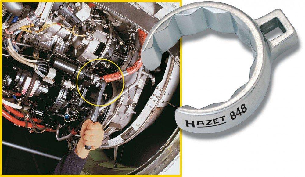 HAZET 848Z-13 Offene Doppel-Sechskant Ringschl/üssel