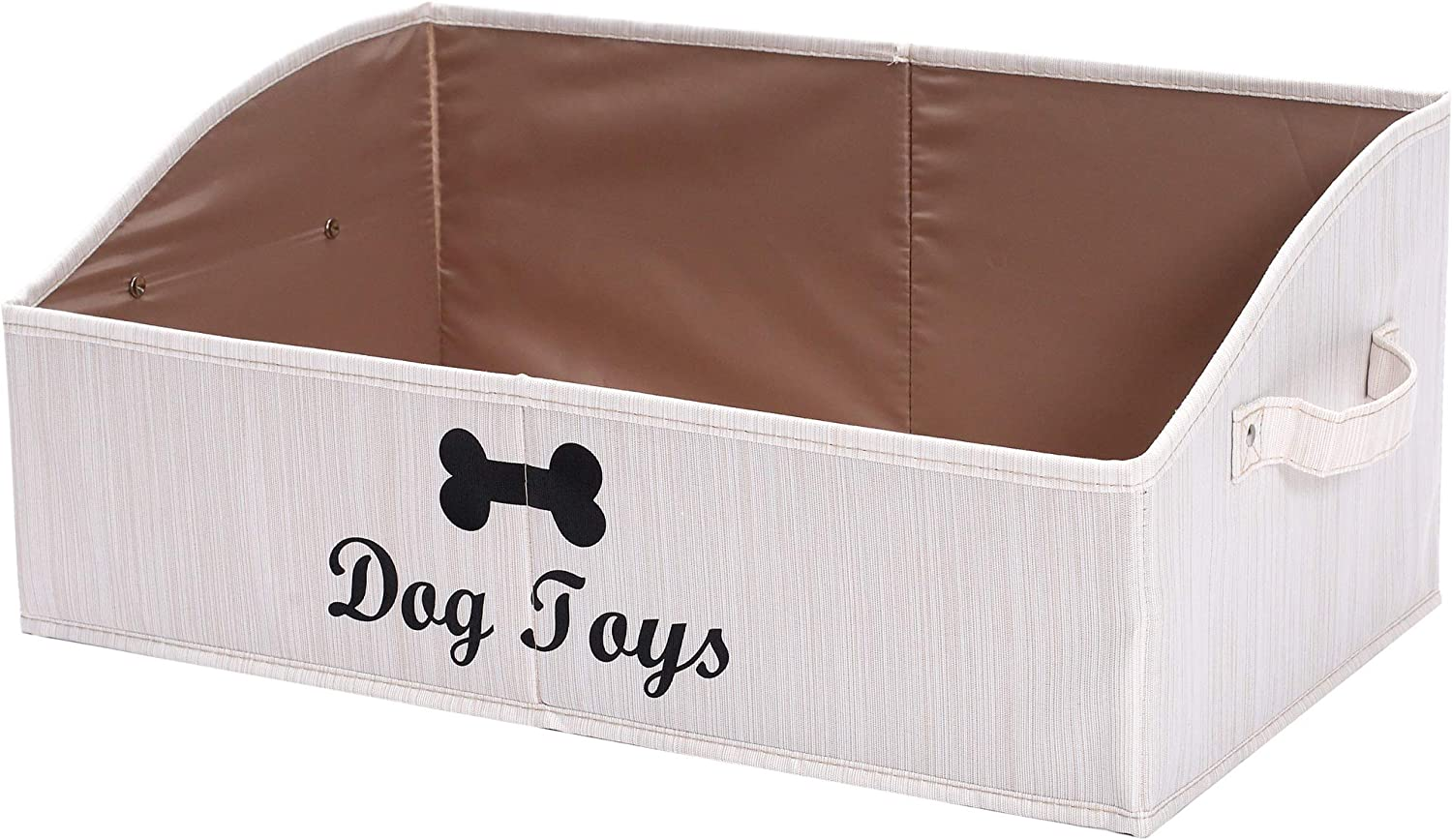 Geyecete Large Dog Toys Storage Bins - Foldable Fabric Trapezoid Organizer Boxes with Handle, Collapsible Basket for Dog Toys