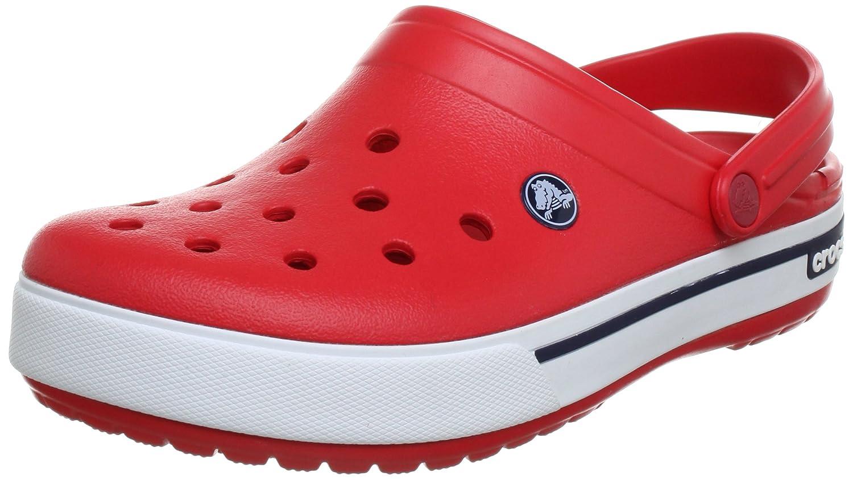 Crocs Crocband II.5 Clog, Zuecos Unisex Adulto 36/37 EU Rojo (Red/Navy)