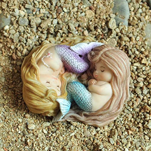 Top Collection Miniature Fairy Garden and Terrarium Sleeping Little Mermaid Friend