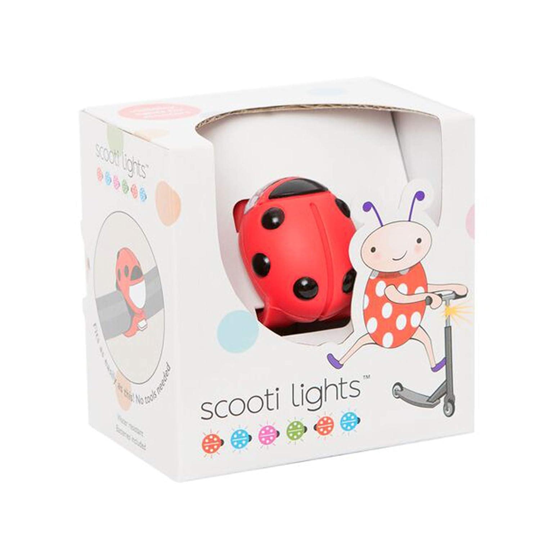 rot mit schwarzen Flecken Buggi Lights BUGGISCOOTR Scooti Rollerlicht