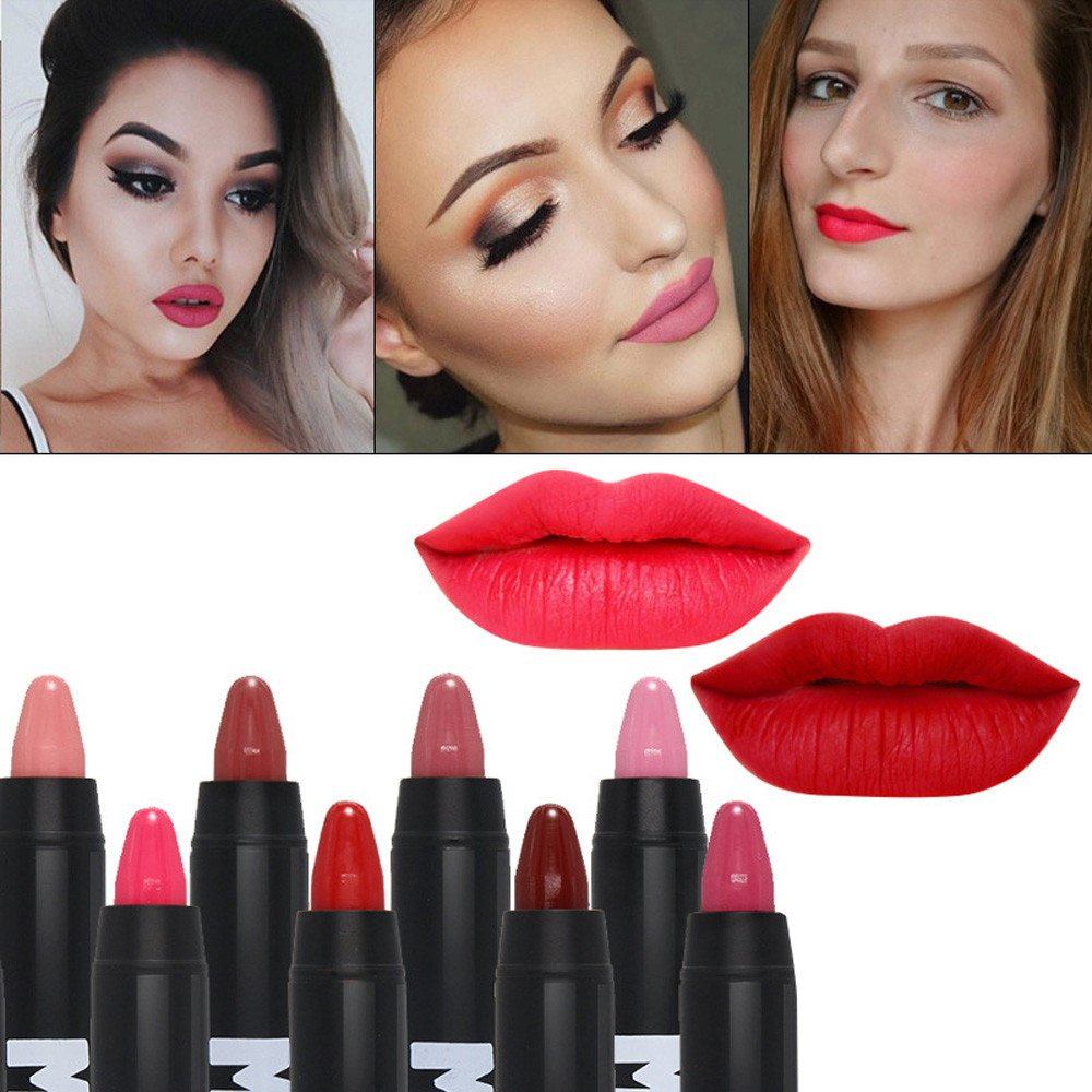 Amazon.com : Lip Glosses Professional Girls Make-up Lipstick Long-lasting for Women by TOPUNDER P : Beauty
