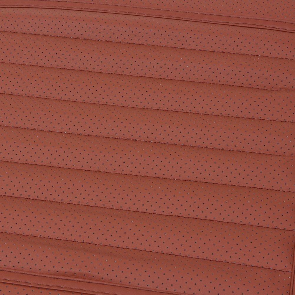 beige Four Seasons g/én/éral PU Cuir Charbon de bambou respirant Assise confortable Int/érieur de voiture Housse de coussin Pad Tapis