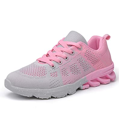 22bc9ab2cb483 SUSHAN Women Running Shoes Mesh Sneakers Women Sport Shoes Breathable  Walking Shoes 18011 Grey 38