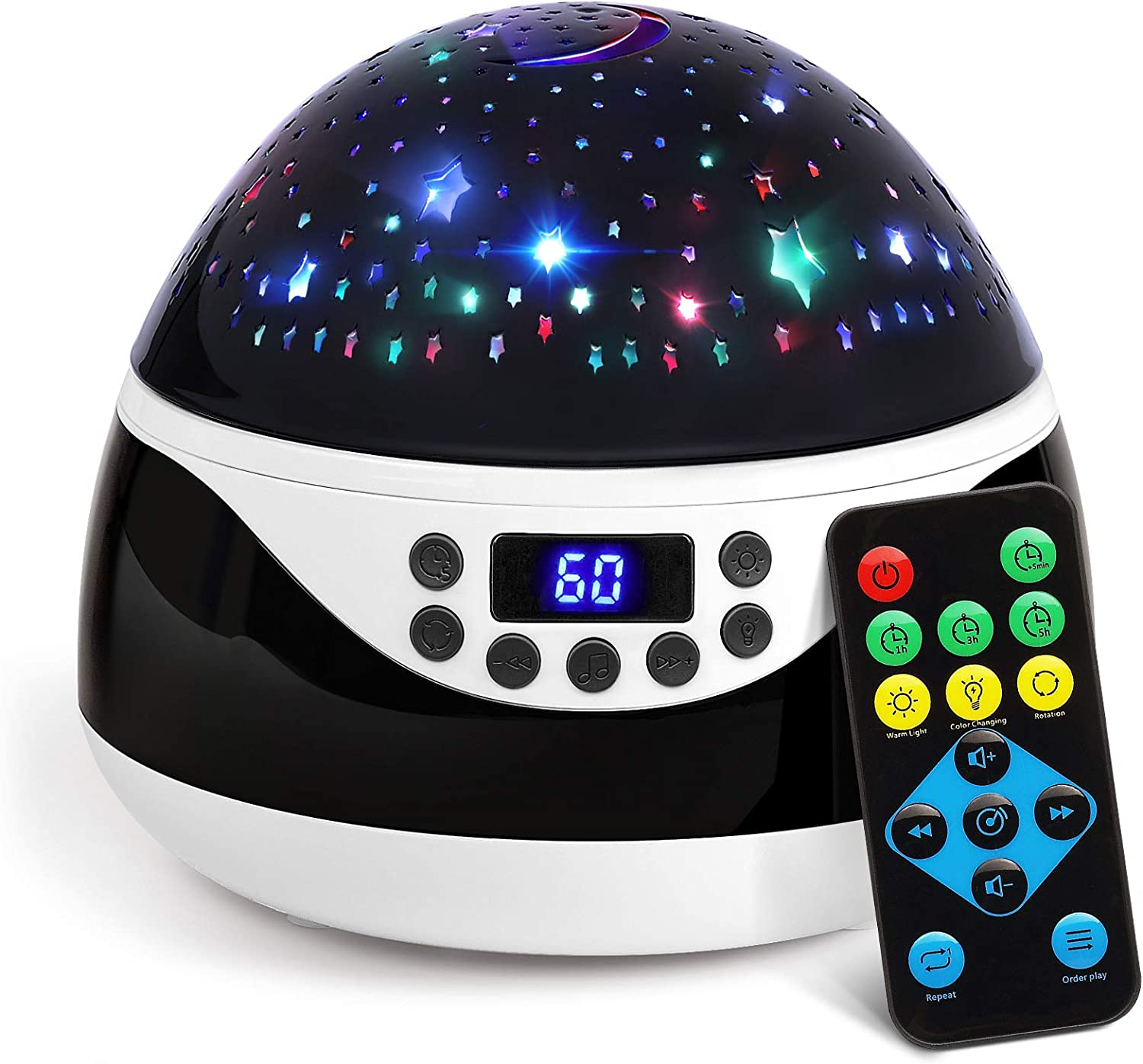 2019 Newest Baby Night Light, AnanBros Remote Control Star Projector with Timer Music Player, Rotating Star Night Light 9 Color Options, Best Night Lights for Kids Adults and Nursery Decor sleep music - 716iFTcsqtL - Sleep Music – Recommendable music gadgets for your family's good sleep