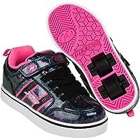 Heelys Bolt Plus HX1 Children's Kids Wheel Skating Light up Shoes (11 UK Child, Black Hologram/Pink)